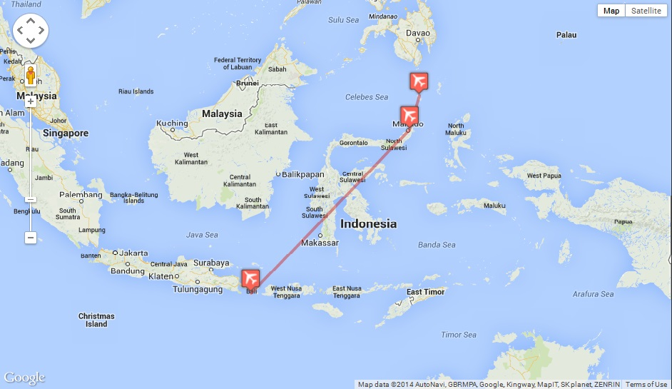 TO GET TO SANGIHE ISLAND FROM BALI-DENPASAR